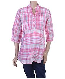 Uzazi Maternity 3/4th Sleeves Shirt Style Top - XXL