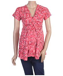 Uzazi Short Sleeves layered Nursing Top - XL