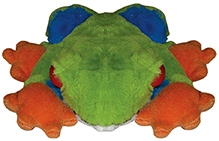 Animal Planet Forest Collectibles Red Eyed Tree Frog Soft Toy - 6 Inches