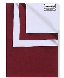 Babyhug Smart Dry Bed Protecting Sheet Maroon - Small