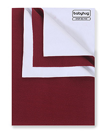 Babyhug Smart Dry Bed Protecting Sheet Maroon - Extra Large