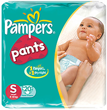 Pampers Pants Small - Pack Of 20 Pieces