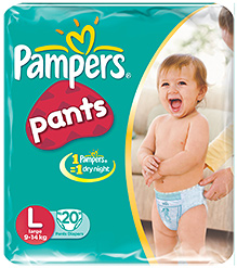 Pampers Diaper Pants Large - 20 Pieces