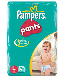 Pampers Pants Large - 36 pieces