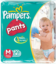 Pampers Pants Medium - Pack of  20 Pieces