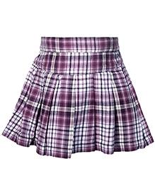 Nauti Nati Check Print Purple Skirt