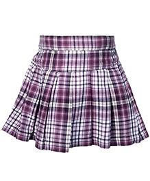 Nauti Nati Check Print Purple Skirt