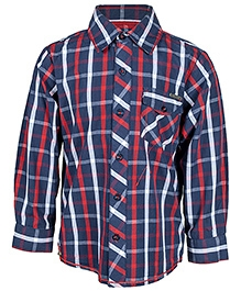 Nauti Nati Full Sleeves Check Print Shirt
