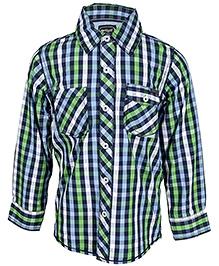 Nauti Nati Full Sleeves Checks Shirt - Green