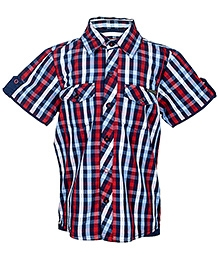 Nauti Nati Half Sleeves Checks Shirt - Red