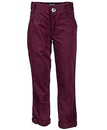 Nauti Nati Full Length Trouser - Burgundy