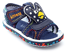 Kittens Blue Stitching Design Sandal - Angry Bird Applique