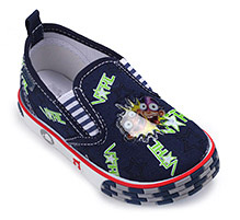 Kittens Canvas Slip-On Shoes - Star print