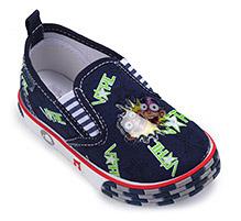 Kittens Canvas Slip-On Shoes - Star print