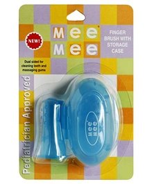 Mee Mee Finger Brush With Storage Case - Blue