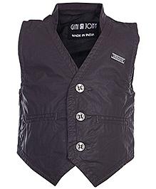 Gini & Jony Sleeveless Waist Coat - Collar Neck