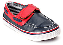Doink Leather Party Shoes - Navy Blue