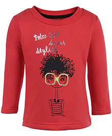 Gini & Jony Full Sleeves Sweatshirt - Red