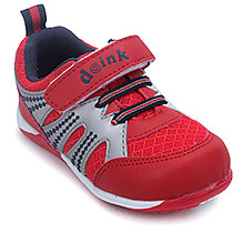 Doink Velcro Strap Sports Shoes - Red - Size 21