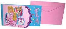 Barbie Party Invitation Card - Pack Of 8