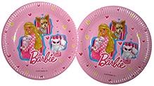 Barbie Pink Paper Plates - 23 cm