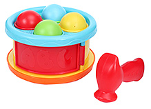 BKids Early Start Hammer Drum Ball Drop 18 Months+, Drum opens up to access balls and allows drumming on the...