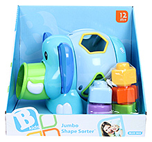 BKids Jumbo Shape Sorter 12 Months+, 19 X 17 X 13 Cm, Pull On Elephant's Ears And Watch The Shapes...