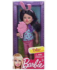 Barbie Delia In Bunny Ears Headband Blue 13 Cm 3 Years+, Doll Wears Capri, Top And Matching Headband