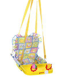 Mothertouch Top Swing Yellow with Ball Rattle