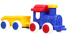 Viking Toys Chubbies Train With Trailer - Navy Blue