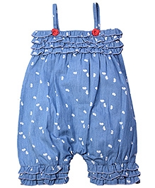 ShopperTree Blue Singlet Dungaree - Tiered Ruffles