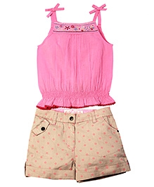 ShopperTree Balloon Pattern Singlet Top And Printed Shorts