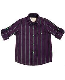 Bonorganik Full Sleeves Cotton Shirt - Vertical Stripes Print