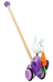 Classic World Wooden Push Rabbit Toy
