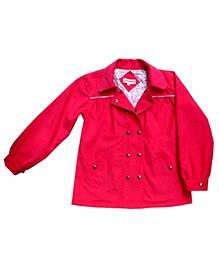 Campana Pink Full Sleeves Party Jacket - Metallic Snap Button