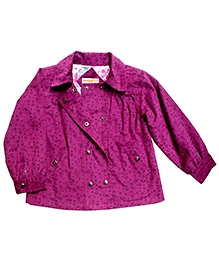 Campana Purple Full Sleeves Party Jacket - Metallic Snap Button