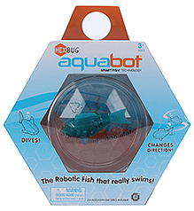 Hexbug Aquabot Robotic Fish With Bowl - Dark Green