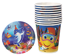 Themez Only Combo Pack Of Paper Plate Glass And Tissue