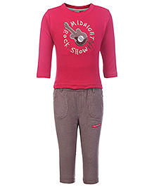 Shirt With Legging Set  -  Mid Night Rock Show 0 - 3 Months, Stylish and comfortable cotton t shirt and legging set
