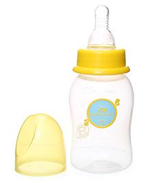 Baby Coo's Yellow Feeding Bottle - 125 ML - BPA Free