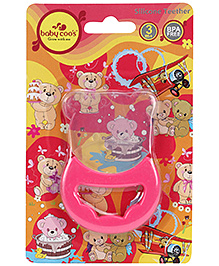 Baby Coos Toy Teether Bear Shape - Pink