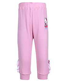 Hello Kitty Light Pink Elastic Hem Legging with Motif