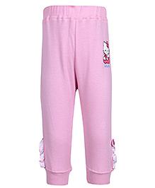 Hello Kitty Light Pink Elastic Hem Legging with Motif