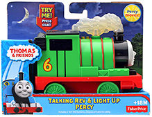 Thomas And Friends Talking Rev And Light Up Percy Train Engine 18 Months+, 13 X 5.5 X 10 cm, Press the handle to hear fun sounds and...