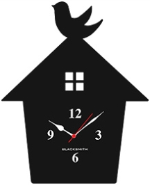 Blacksmith Nest Home Clock - Black