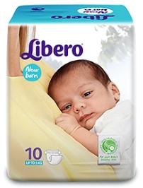 Libero Baby Diaper New Born - 10 Pieces