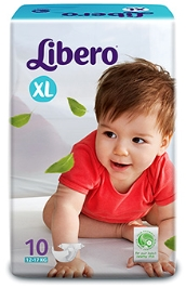 Libero Baby Diaper Extra Large - 10 Pieces