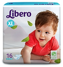Libero Baby Diaper Extra Large - 16 Pieces