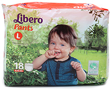 Libero Pant Style Diaper Large - 18 Pieces