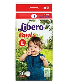 Libero Pant Style Baby Diaper Large - 36 Pieces